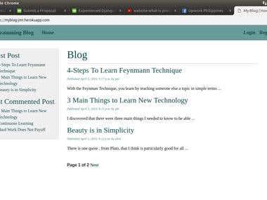 Django Blog Site
