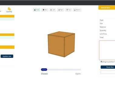 3D tool box for Packaging industry