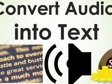 Convert Audio and video files to Text