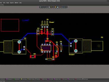 PCB Design (2-Layer) for Power Amplifier on Altium