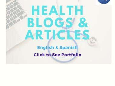 Writing Health Blogs & Articles