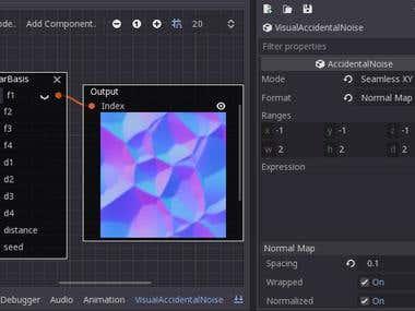 Visual Accidental Noise custom engine plugin in Godot