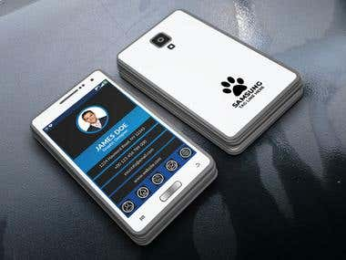 SAMSUNG PHONE STYLE BUSINESS CARD
