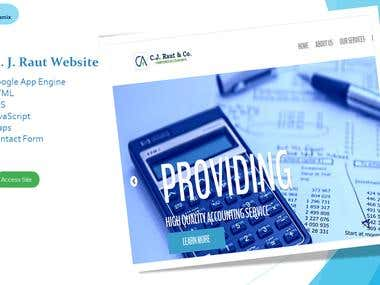 CA CJ Raut Website