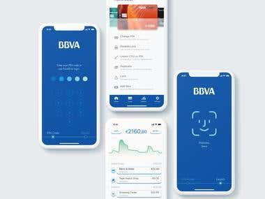 BBVA Bank app design
