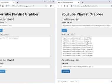YouTube Playlist Grabber