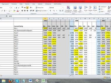 Fill in a Spreadsheet with Data