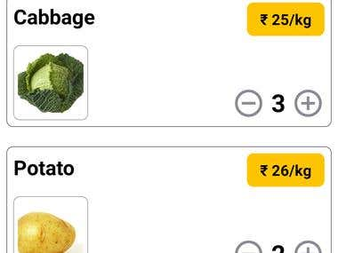 Vegetable vendor app