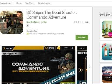Game 3D Sniper The Dead Shooter: Commando Adventure