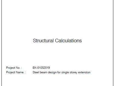 Sample Calculation Report
