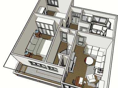 Thoughts as to re-work an existing two bedroom apartment