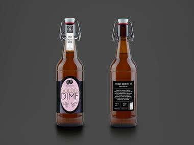 Golden Dime - Rose Edition label