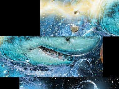DOTCOMCANVAS SHARK DESIGN