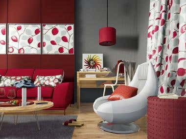 R E D Living Room