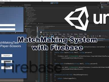 Unity Matchmaking System using Firebase