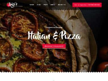 Website for Pizza Shop