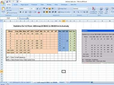 Screen shot to EXCEL conversion