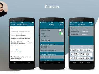 Mobile GUI Canvas