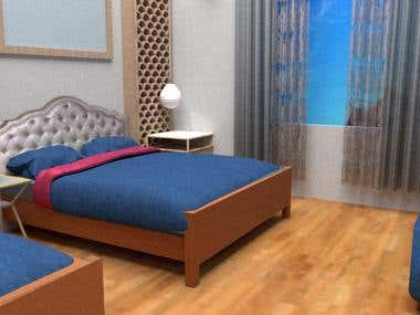 Hotel Room Designing