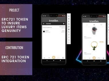 react-native app with ethereum smart contract integration