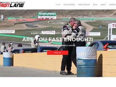 Fastlane, race school website testing