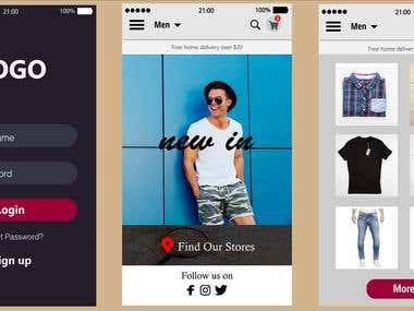 Online Clothing Mobile Application
