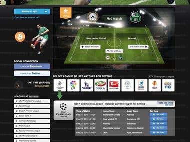 Automatic soccer betting website