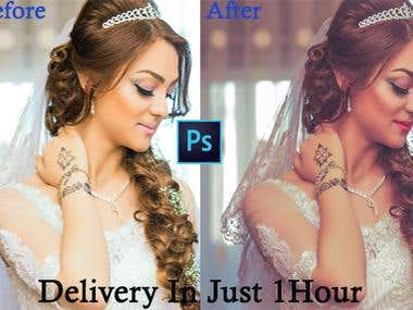 Retouching photos for you in photoshop, super fast