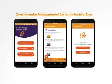 Questionnaire Management System – Mobile App