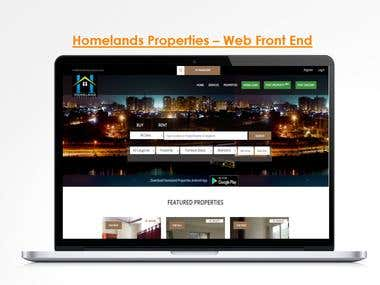 Homelands Properties Web App