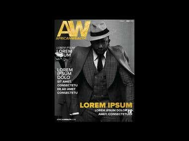 Adobe Indesign magazine.
