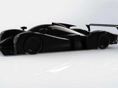 CAD modeling of F1 and LMPx cars