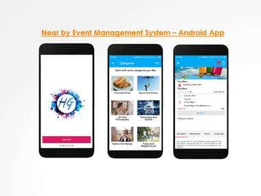 Near by Event Management System – Android App