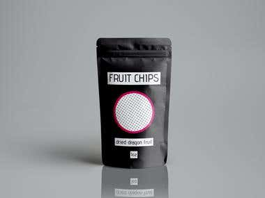 Fruit chips pouch design