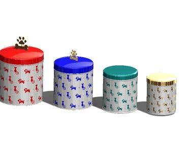 Petware ranges in storage boxes