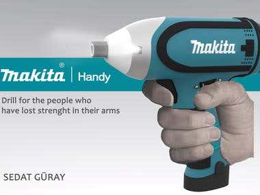 Drill design for Makita company