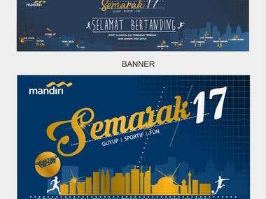 BANK MANDIRI ANNIVERSARY CUP DESIGN