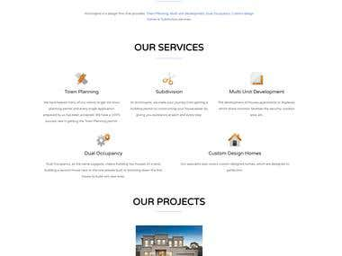WordPress Home page designed for a design Firm