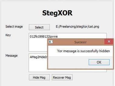 QT StegXor project