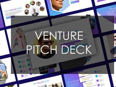 Venture pitch deck
