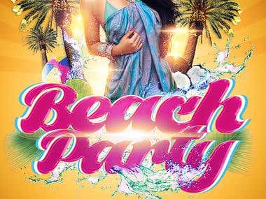 Flyer Design - Beach party