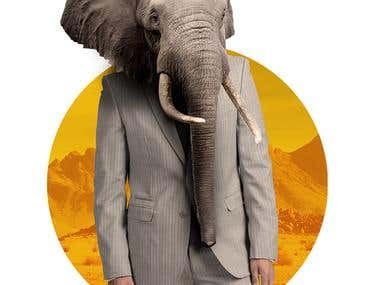 Elephant man suit