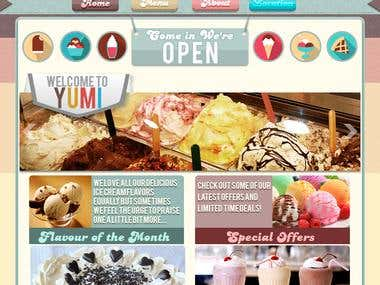 Yumi Website design front page