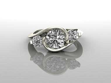 Solitaire Ring Design with Rendering