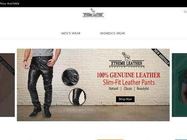 Leather E commerce Application