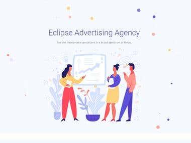 Eclipse Advertising Agency WordPress Website design