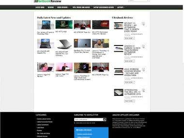 Blog with reviews of laptops etc.