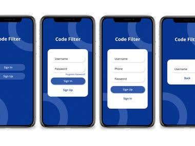 Mobile App UI Design of Log In Page
