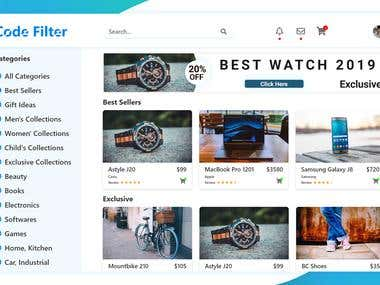E-Commerce Website Landing Page UI Design