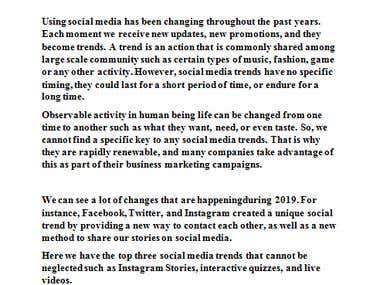 top three social media in 2019
